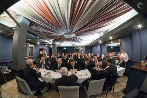 Nearly 60 members share lunch